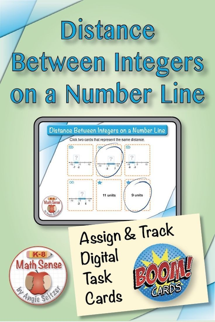 Distance between integers boom cards in 2020 middle