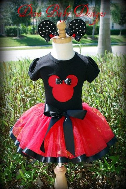 Minnie Mouse Diva Tutu Outfit-minnie, mouse, tutu, outfit, applique, disney, character, birthday