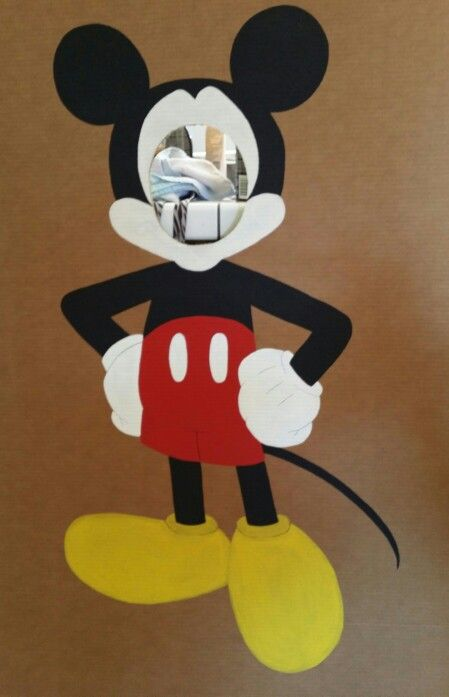 Mickey Mouse photo booth cutout - I drew and painted it for my friends sons 1st birthday party :)