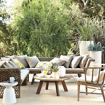 Montauk Sectional West Elm Beautiful Outdoor Spaces Modern Patio Furniture Outdoor Coffee Tables