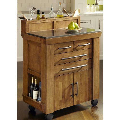 Vintage Oak Kitchen Kart Kitchen Cart Kitchen Island With Granite Top Kitchen Island Cart