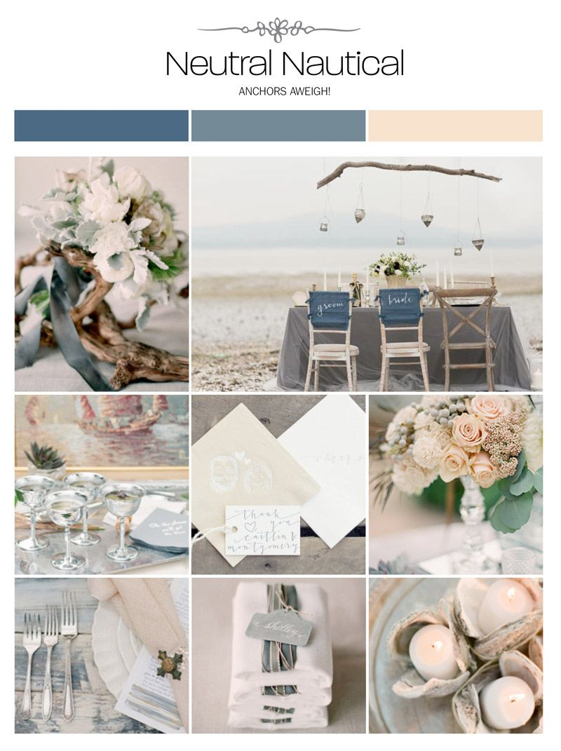 Neutral Nautical Navy Gray Beige Wedding Inspiration