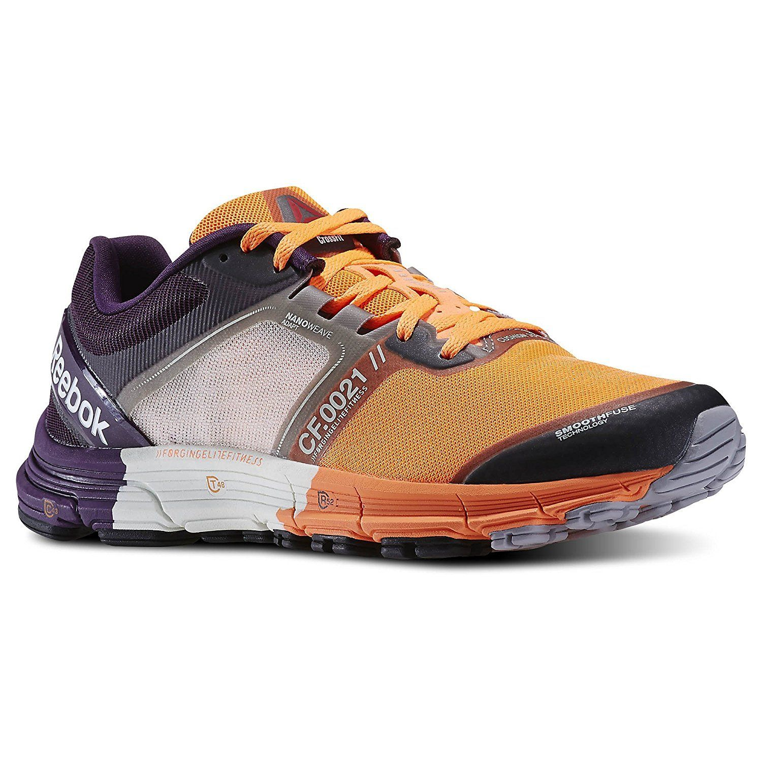 6d56859a5bdce Reebok Womens Crossfit One Crossfit Cushion 3.0 Sneakers Orange ...