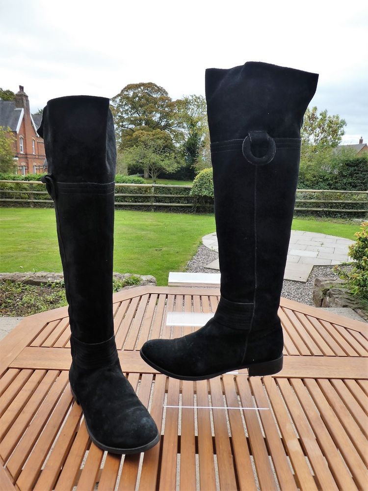 42f23fab42de CARA FREEFLEX Ladies Black Suede Over the Knee FLAT LONG BOOTS uk6 VGC  rrp200  fashion  clothing  shoes  accessories  womensshoes  boots (ebay  link)