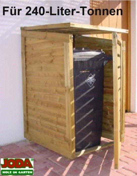 joda holz m lltonnenbox dino 74x85x115 131cm m lltonnenverkleidung 240 liter. Black Bedroom Furniture Sets. Home Design Ideas