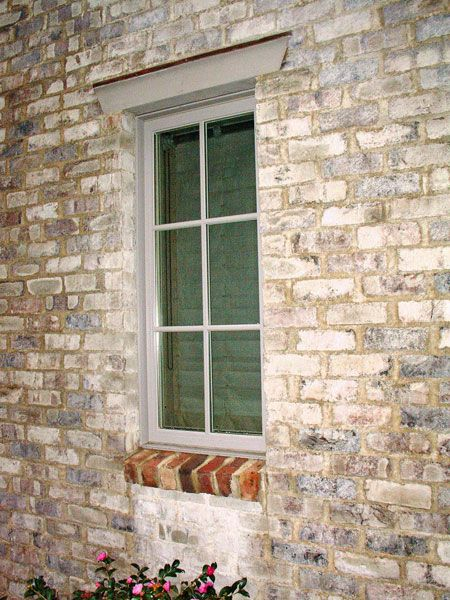 San marco antica calce lime wash applied to modern brick - Lime wash paint exterior design ...
