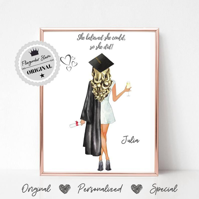 Graduation Gift | Gift Abitur | Best Friend Picture | Abi | Graduation | Uni Graduation | Student Gift | Degree