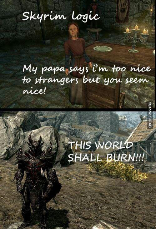 Elder scrolls oblivion logic
