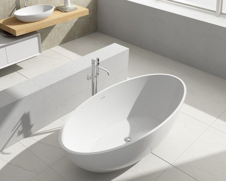 baignoire lot en pierre solide solid surface ovale rio. Black Bedroom Furniture Sets. Home Design Ideas