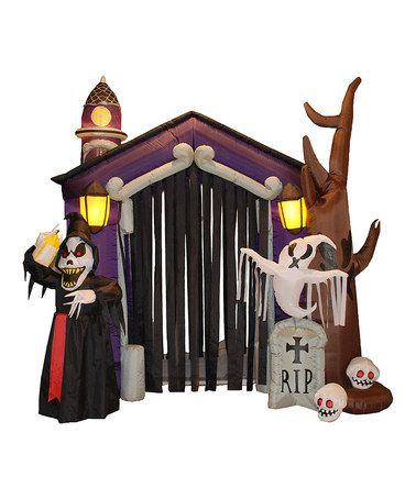Take a look at this Haunted House Inflatable Lawn Decoration by BZB - lowes halloween inflatables
