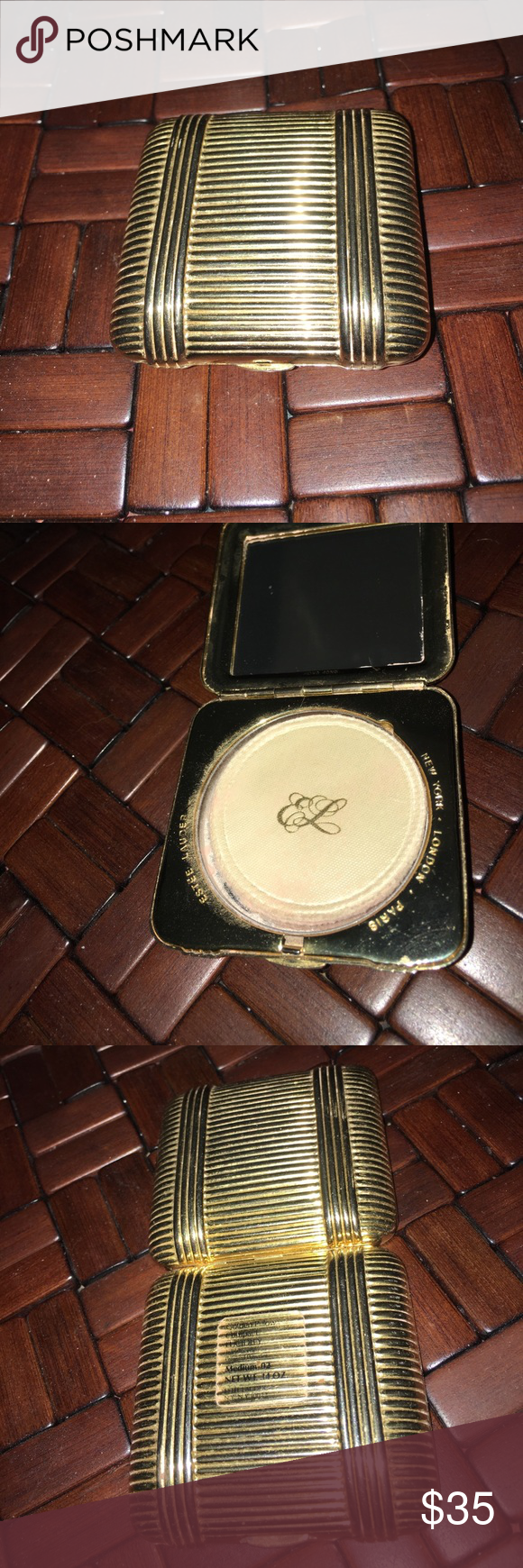 Estée Lauder golden pillow compact Collectible Estée Lauder compact ' Golden Pillow' Estee Lauder Accessories