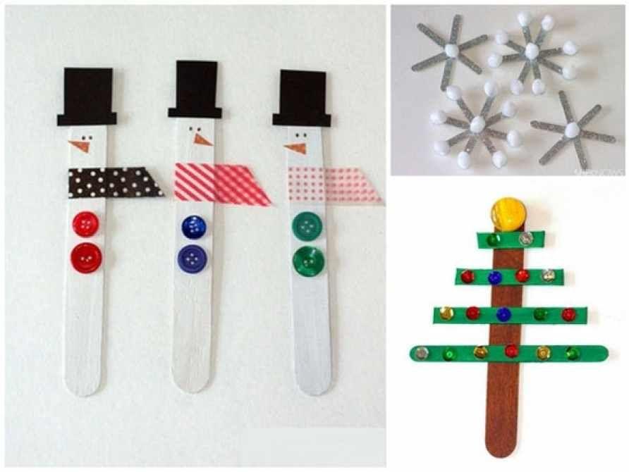 adornos de navidad que puedes hacer con tus hijos adornos navideos con palos de