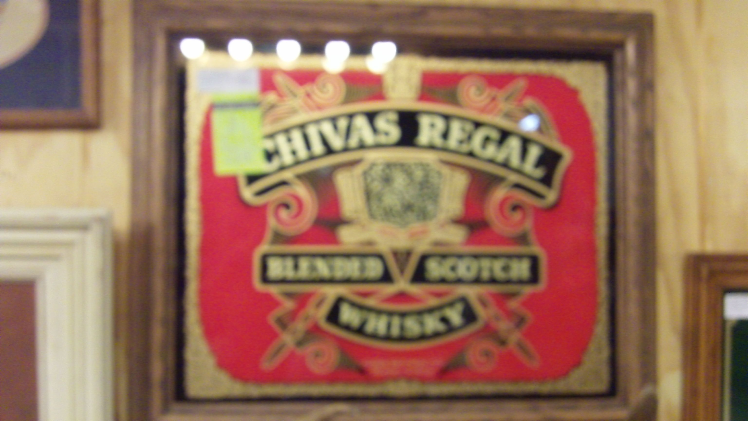 CHIVAS REGAL GLASS LITHO AND FRAME FOR $39.99, DEALER 138, MICHIGAN AVE AND BOOTH 146 AT THE BRASS ARMADILLO IN GRAIN VALLEY, MO. SHIPPING IS AVAILABLE FOR AN ADDITIONAL FEE.