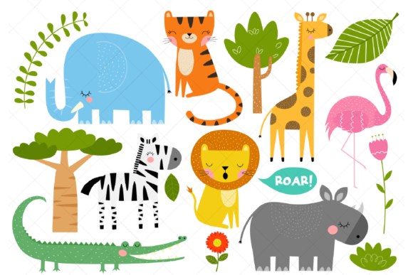 African Animals Clipart Safari Animals Graphic By Clipartisan Creative Fabrica African Animals Animal Clipart Safari Baby Animals