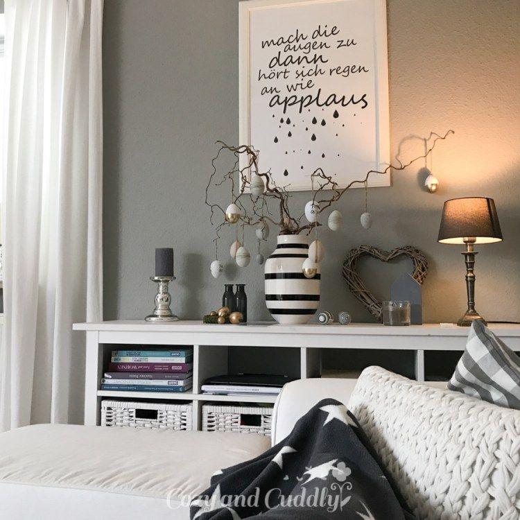 Ein kleiner Ostergruß Oster Deko im Wohnzimmer in
