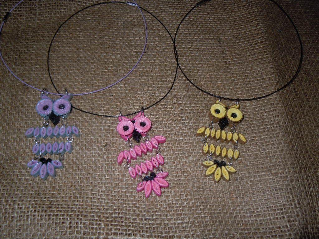 2015 pendants - my creation/idea taken from the Internet -Facebook.com/ Zdenka Quilling