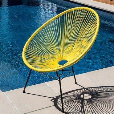 Acapulco Lounge Chair Replica - Yellow - Buy Acapulco Chairs For Sale and Buy Acapulco Lounge Chairs - Milan Direct