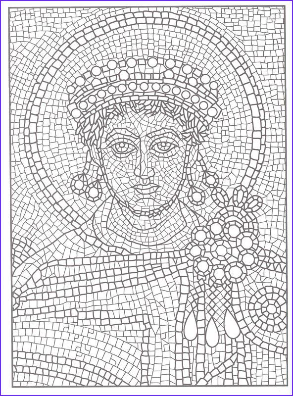 Printable Mosaic Coloring Pages For Adults Roman Mosaic Mosaic Drawing Mosaic Patterns