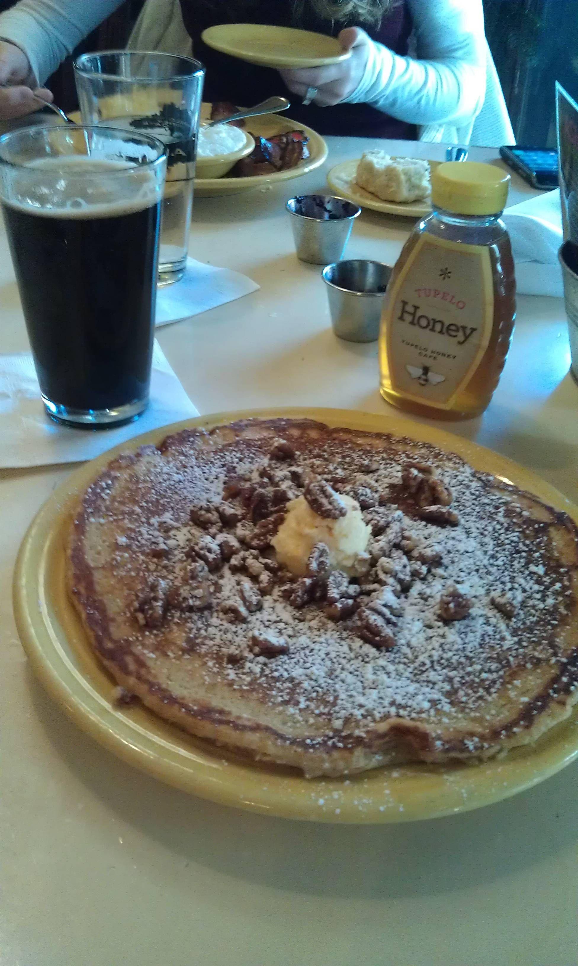 Sweet potato pancake and morning beer. asheville north ...