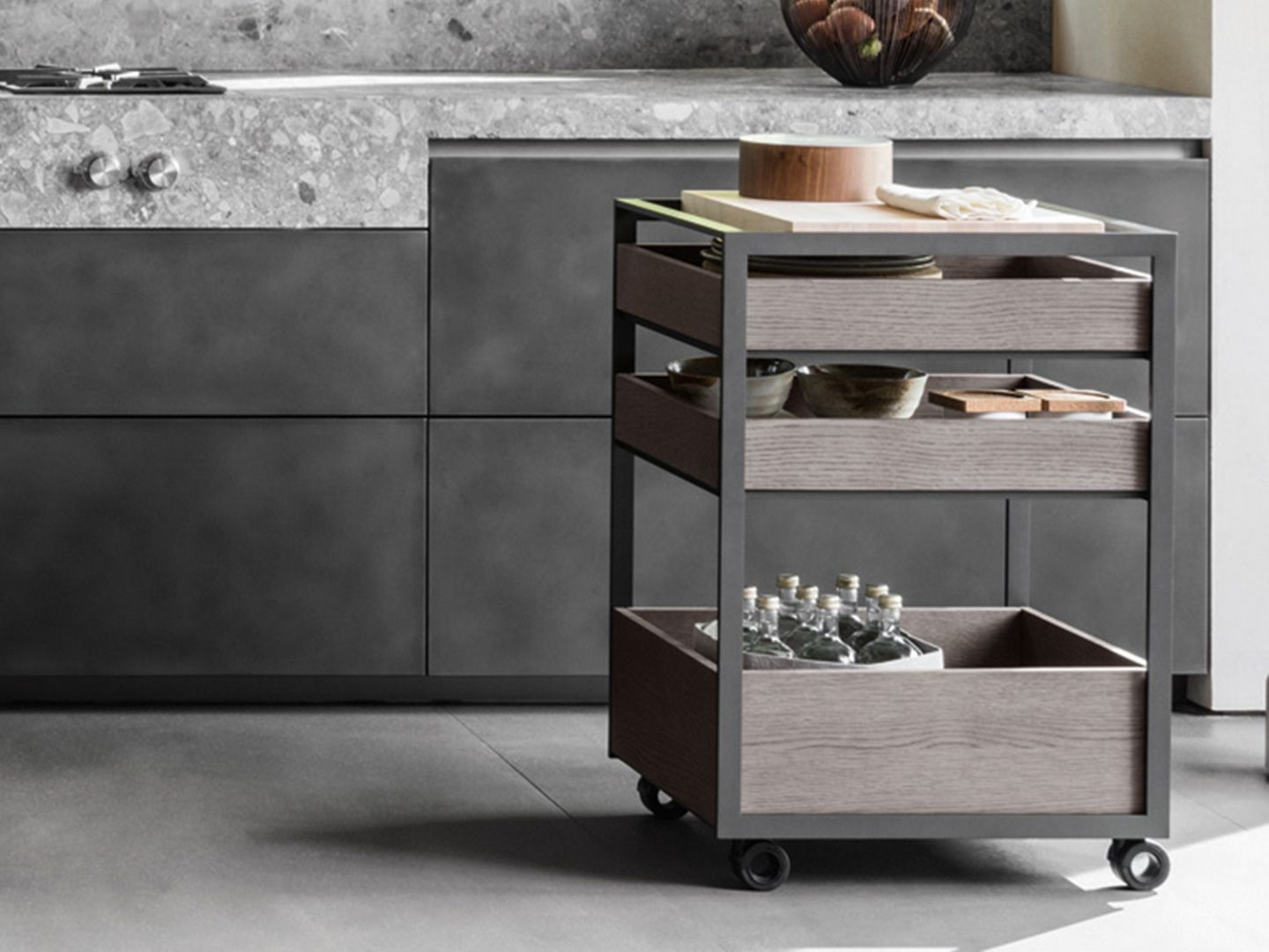 Dada Trolley Made From Solid Oak Italian Design Dada Kitchen  # Muebles Y Cocinas Daxa
