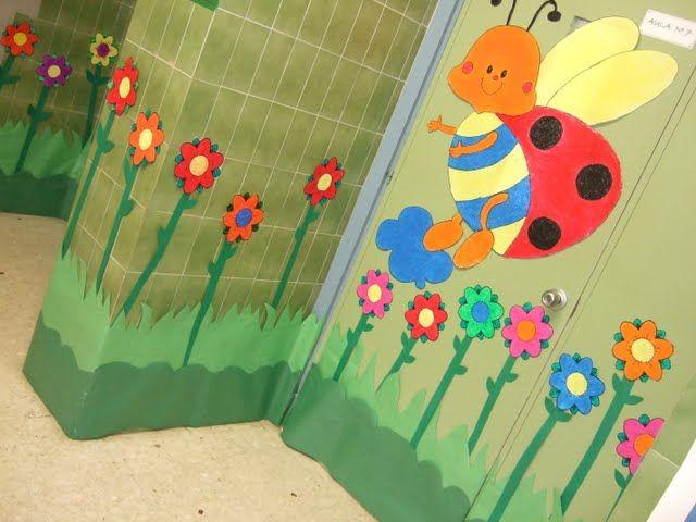 Como decorar una puerta de primavera recherche google for Puertas decoradas primavera