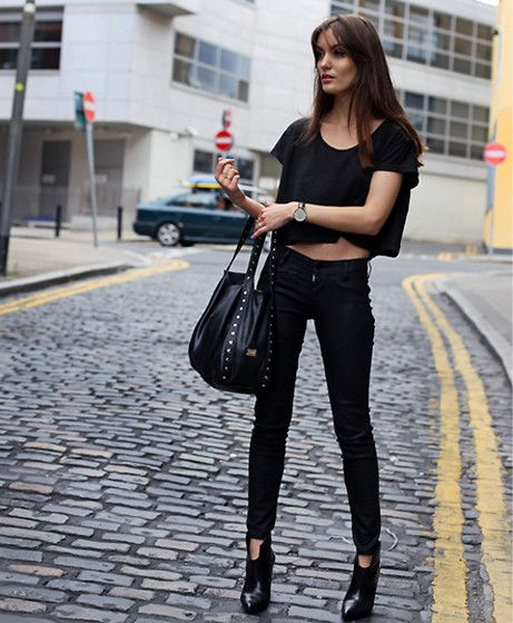 black top and black jeans - Jean Yu Beauty
