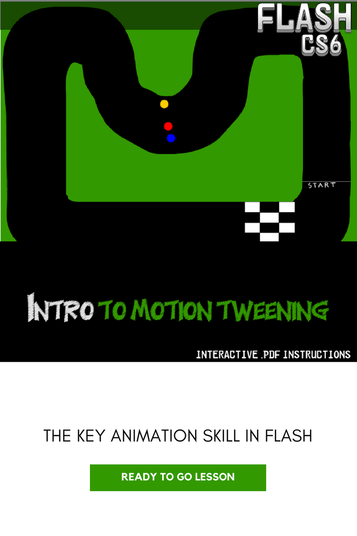 Flash CS6 Lesson - Intro to Motion Tweening | Middle School
