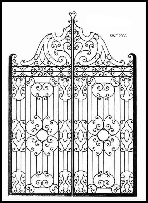 Wrought Iron Gate - Design From Historic Record
