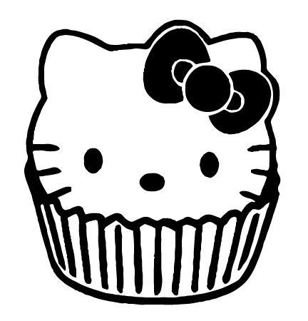 Hello Kitty Cupcake Hello Kitty Coloring Kitty Coloring Hello Kitty Colouring Pages