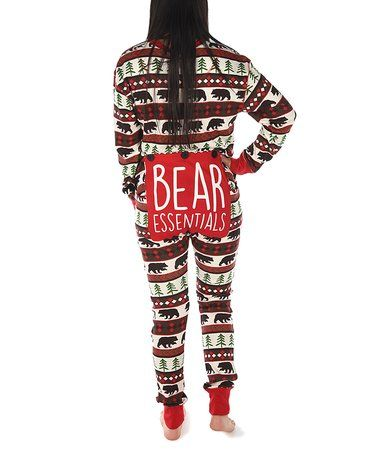 cd03a568d Another great find on  zulily! Red   Brown Bear Flapjack Pajamas ...