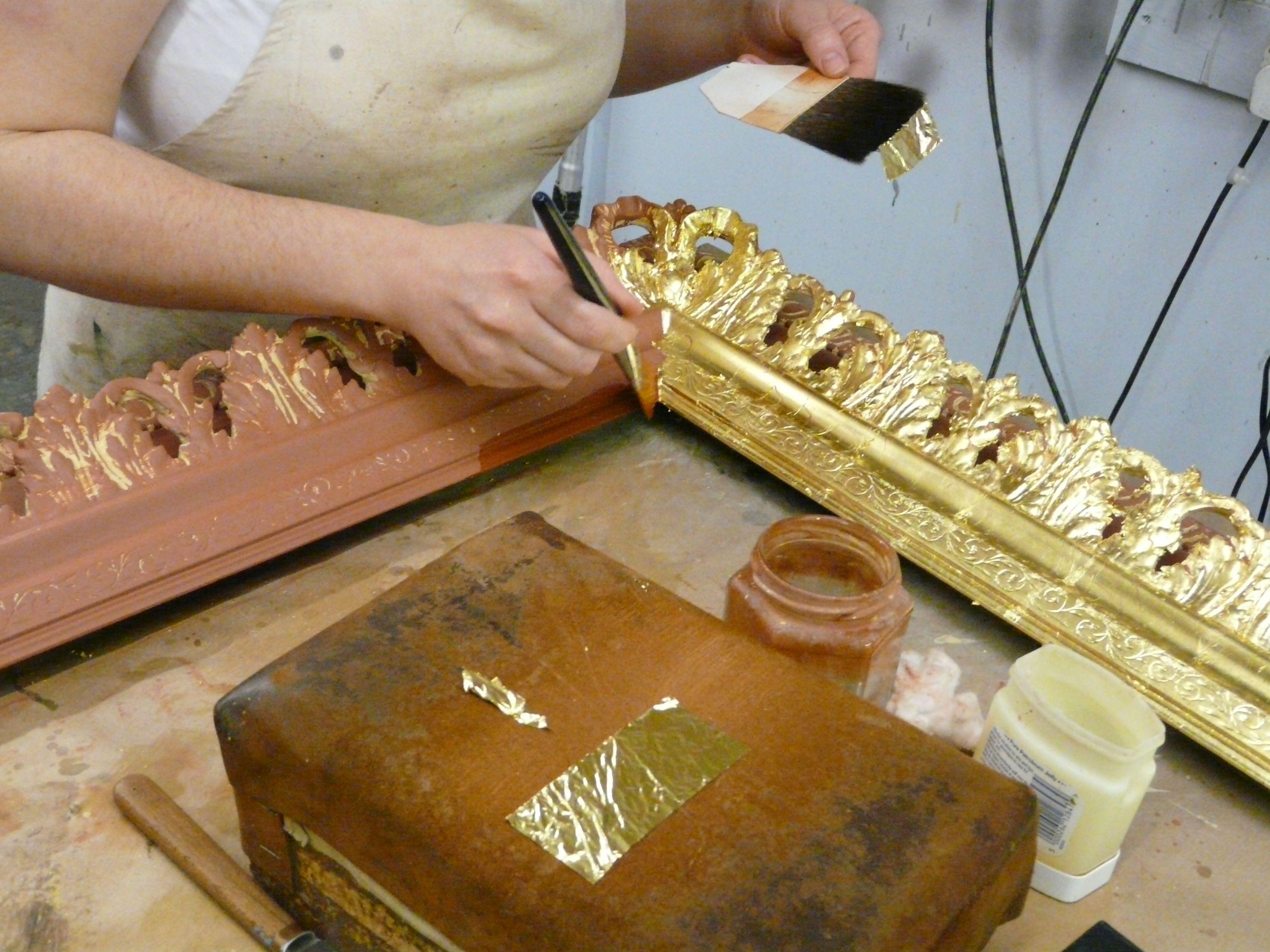 Application Of 23ct Gold Leaf Golden Design Gold Leaf Art Conservation Art