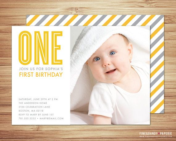 baby birthday invite