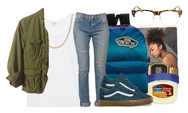 """All Day ~ Kevin ""Chocolate Droppa"" Heart"" by retrovintagepizza ❤ liked on Polyvore featuring Splendid, G-Shock, Vans, Yves Saint Laurent, Therapy, Reeds Jewelers, G-Star and Chicnova Fashion"