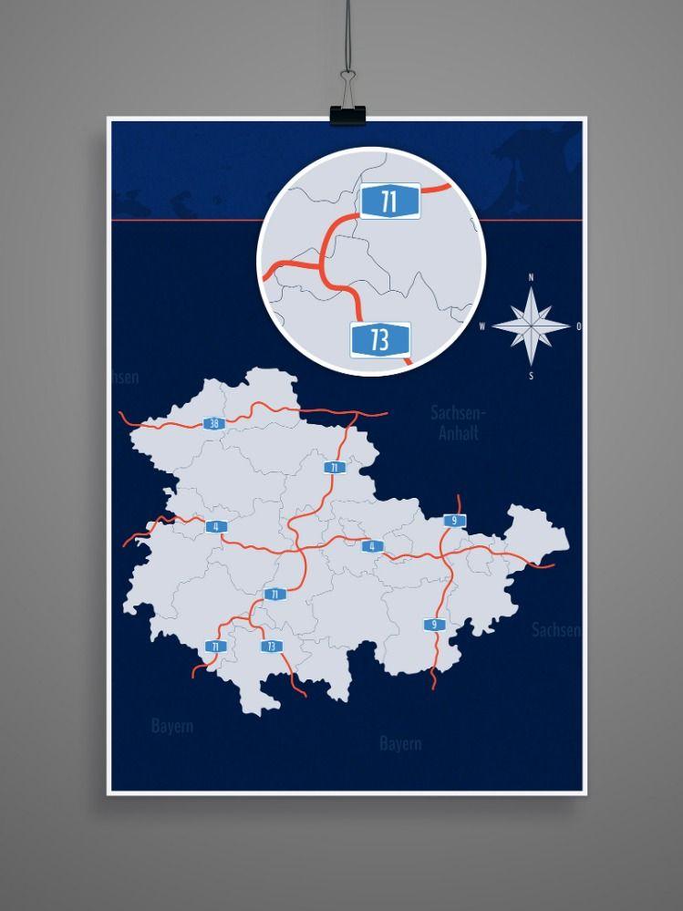 Landkarte Thuringen Mit Landkreisen Download Landkarten