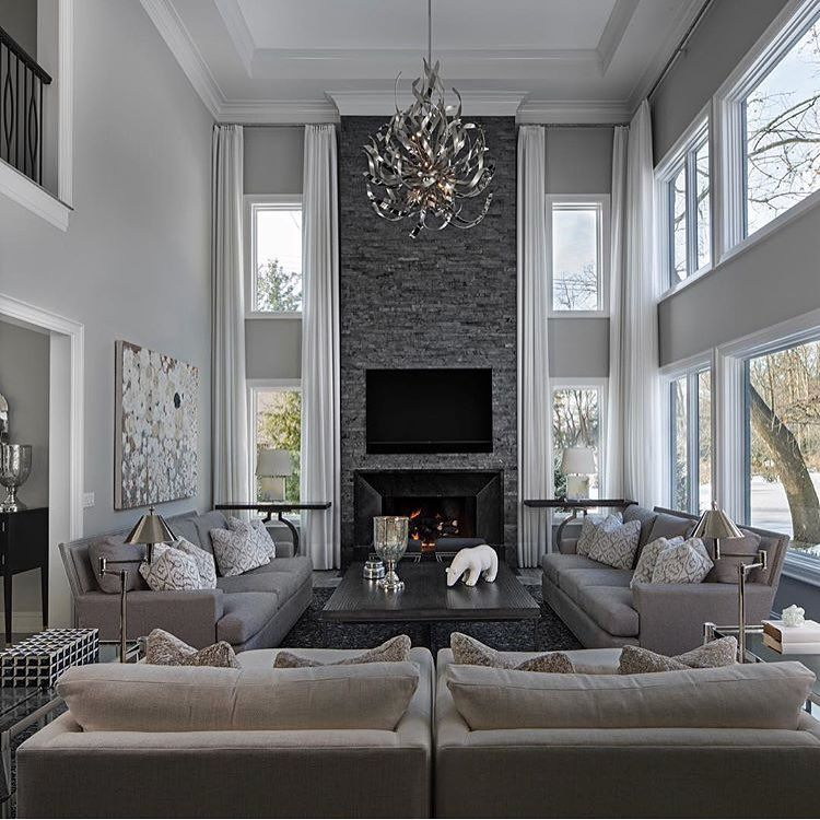 3 212 Likes 31 Comments Home Design Home Decor Exquisite Interiors On Instagram By J Elegant Living Room Decor Luxury Living Room Elegant Living Room #tall #ceilings #living #room