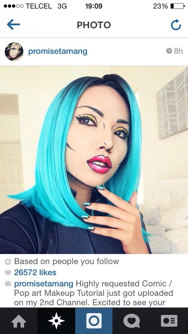 pop art c mic makeup pinterest maquillage halloween. Black Bedroom Furniture Sets. Home Design Ideas