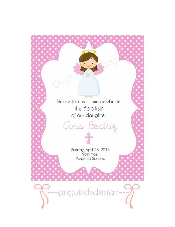Virgencita PRINTABLE first communion or by GUGUKIDSDESIGN First - invitation templates holy communion