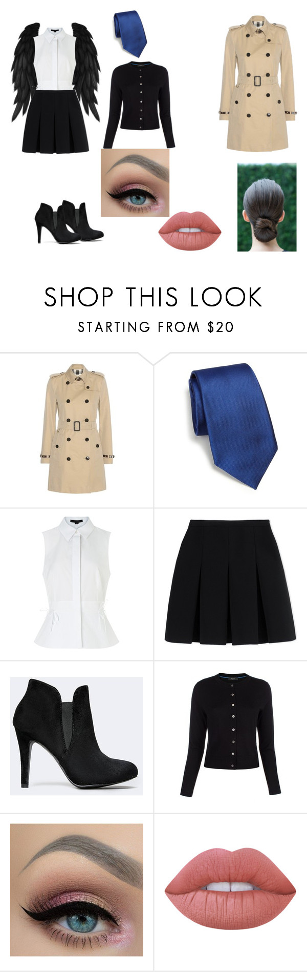 """""""castiel outfit"""" by alannahzoe on Polyvore featuring Burberry, RVR, Alexander Wang, Paul Smith and Lime Crime"""