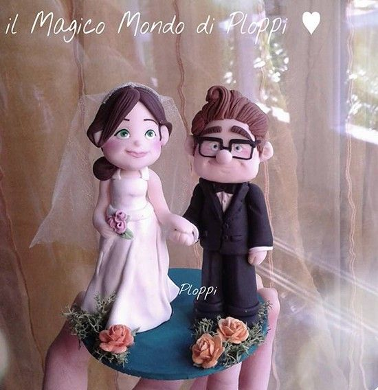 Matrimonio Tema Up Cake Topper Carl Ellie Wedding Theme Movie Disney