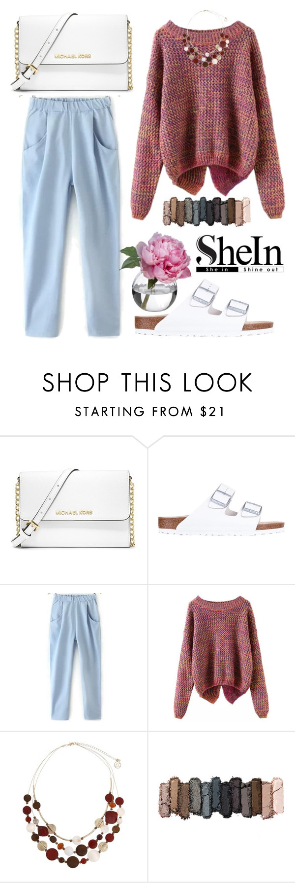 """Shine in. Shine out."" by shanelala ❤ liked on Polyvore featuring MICHAEL Michael Kors, Birkenstock, Erica Lyons, Urban Decay and Diane James"