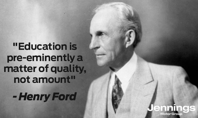 Henry Ford Quotes Jennings Ford Direct Https Www Jenningsforddirect Co Uk Car Guides History Of F Education Quotes Education Education Quotes Inspirational