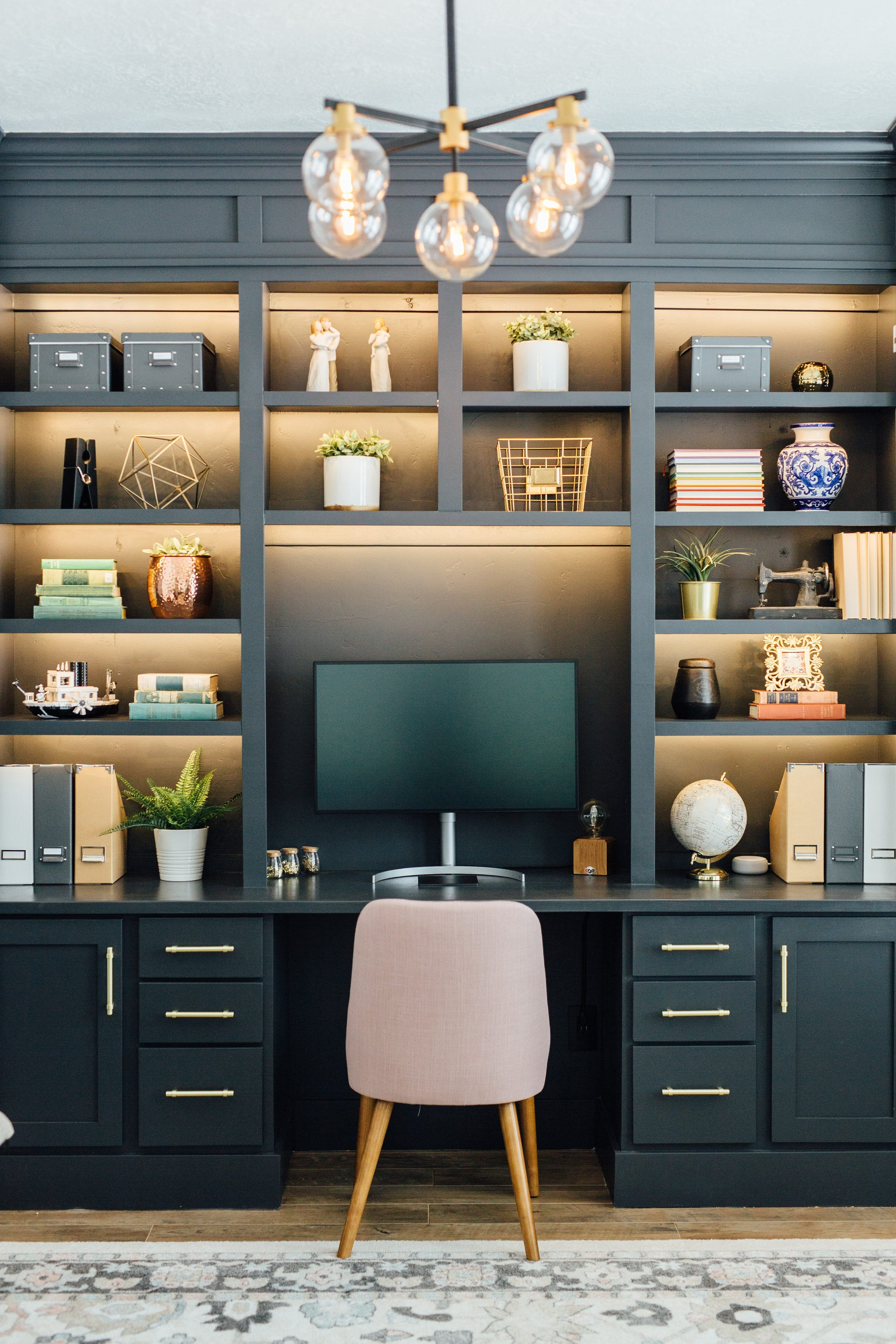 My Gorgeous DIY Office Built ins Reveal