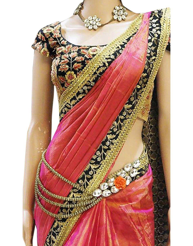 41a4c699994bd3 Stylefabs Designer Orange Paper Silk Wedding Wear Saree For Women Colour   Orange Saree Fabric   Paper Silk