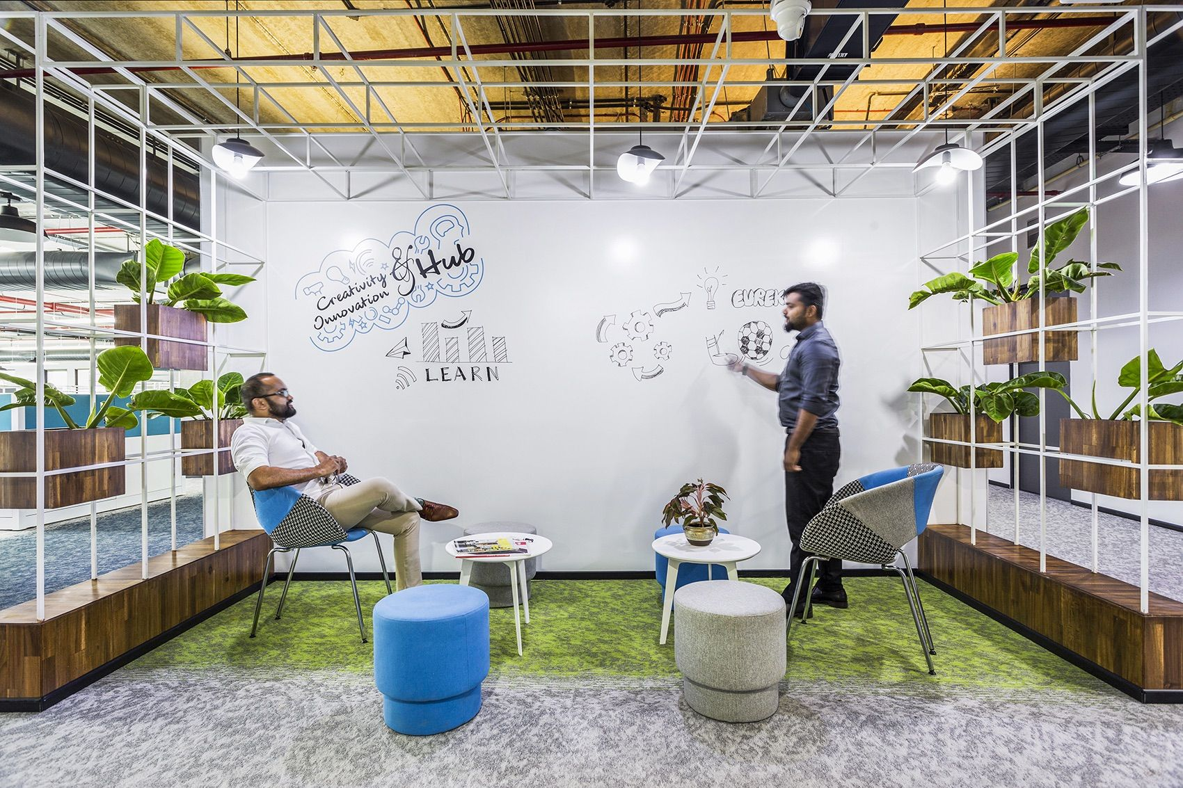 A Tour Of Tivo S Cool New Bengaluru Office In 2020 Office Collaboration Space Corporate Office Design Startup Office