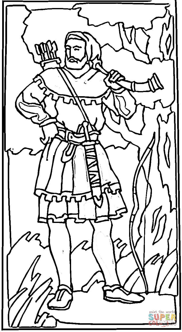 Robin Hood In a Sherwood Forest coloring page from United Kingdom ...