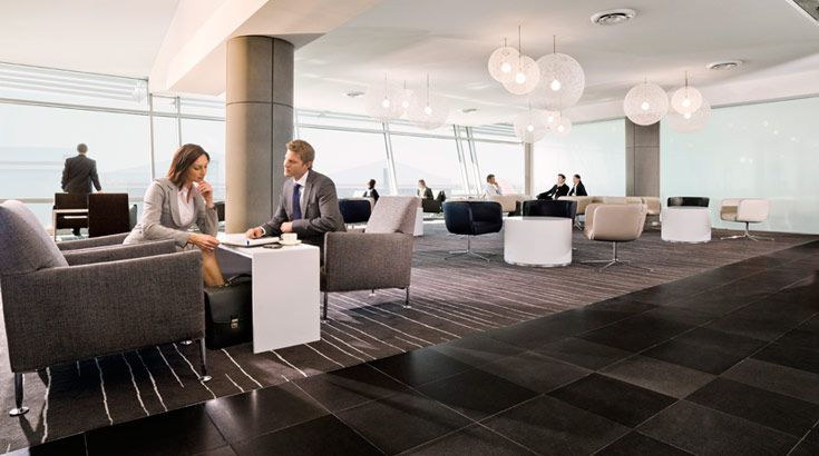 Relax and unwind in a Qantas lounge before your next flight