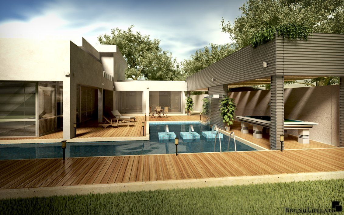 ^ Modern House at Day by BrunoLollato on Deviantrt  Nice Haus ...