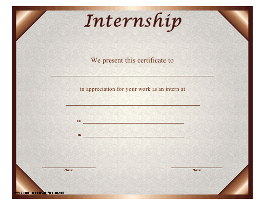 This certificate should be presented to an intern in appreciation this certificate should be presented to an intern in appreciation of his or her work during yadclub Choice Image