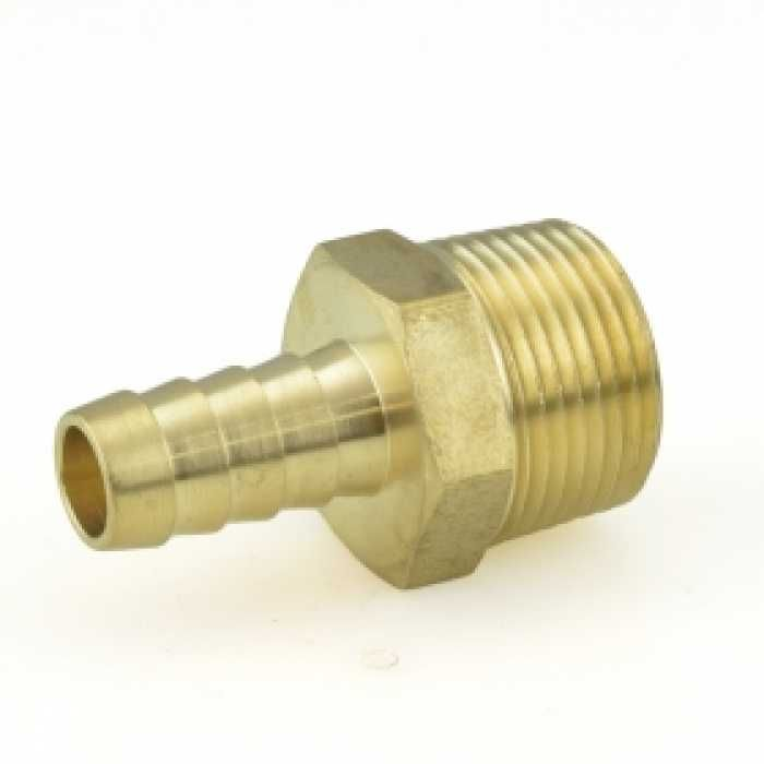 "1/2"" Hose Barb x 3/4"" MIP Brass Adapter Thread adapter"