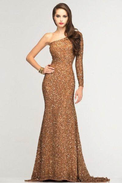 Imagen de vestidos de noche dorados